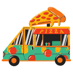 Pizza delivery truck
